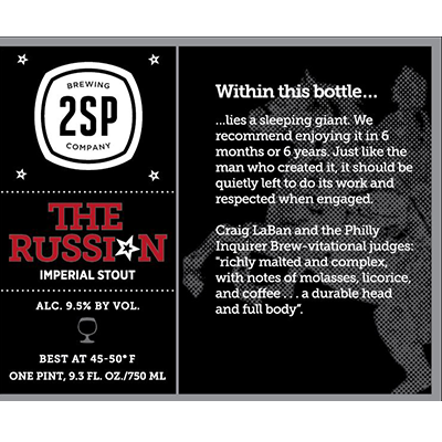 The Russian Imperial Stout at 2SP