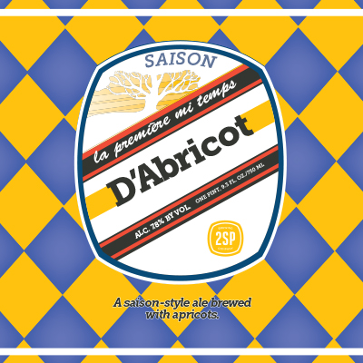 D'Abricot Saison Style Brewed with Apricots