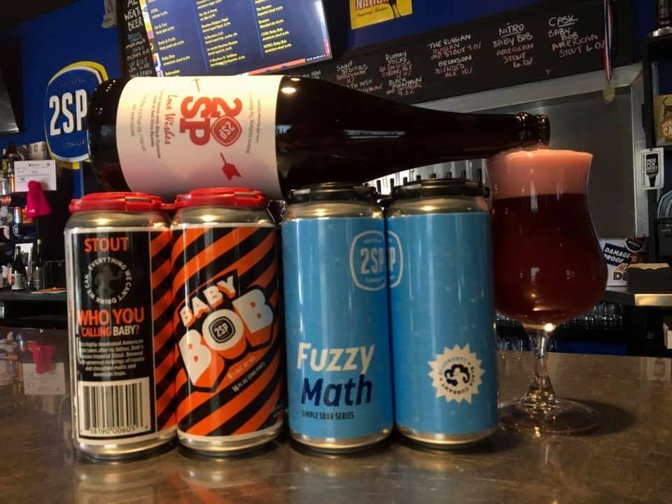 Baby Bob and Fuzzy Math Beer at 2SP Brewing