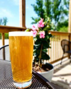 Light Beer Pint On Deck